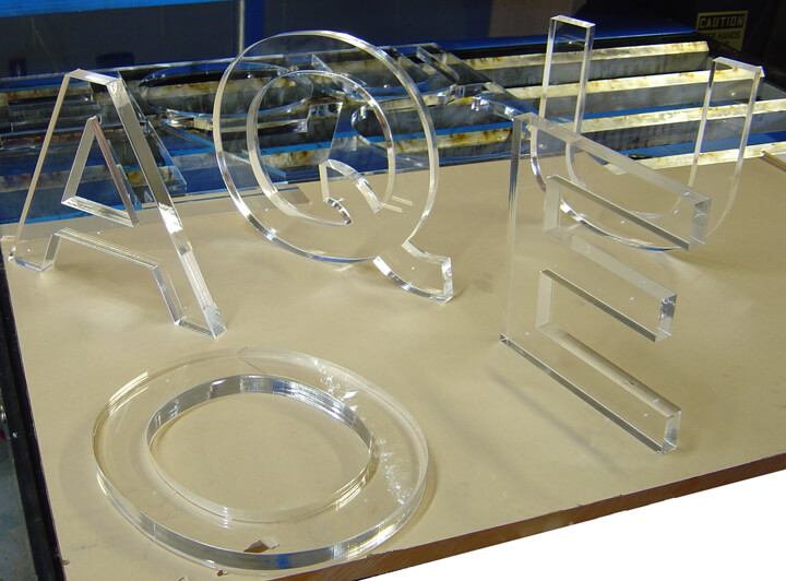 Clear Acrylic latters