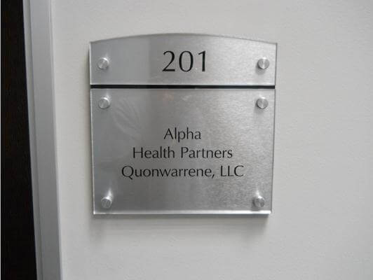 Stainless Steel with Clear Acrylic sign